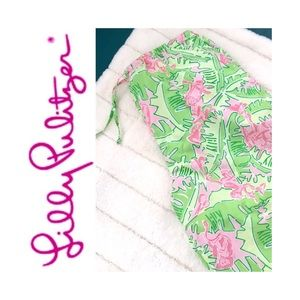 ✨HP✨ VTG Lilly Pulitzer Musical Monkey Wide Capris